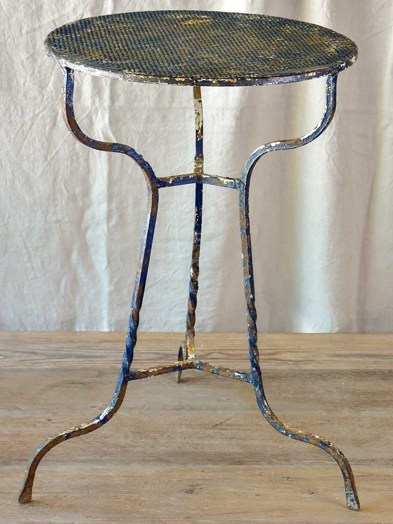 Mid Century French garden table - perforated metal
