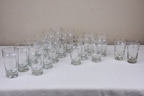 18 antique French bistro beer glasses