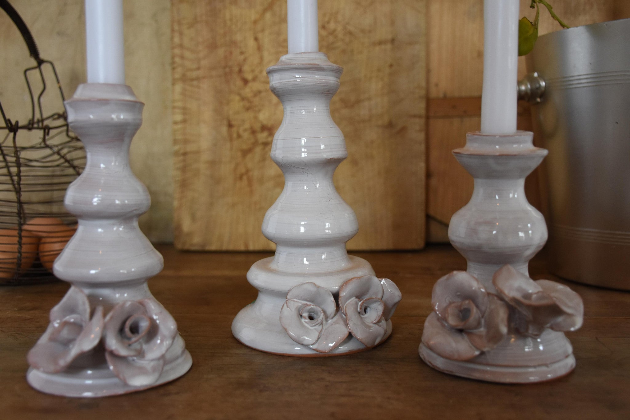 Set of three candlesticks