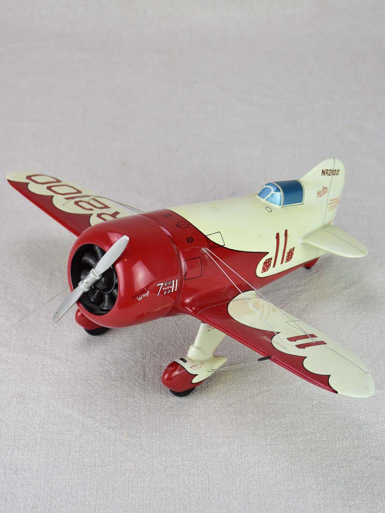 Red toy racing plane -  Gee Bee Model R Super Sportster