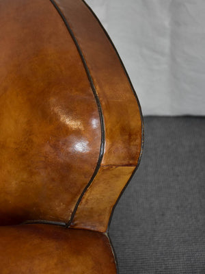 Classic mid century French leather club chair