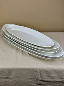 Collection of five antique Limoges fish platters