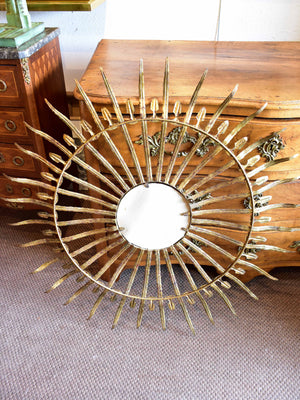 Large vintage sunburst mirror
