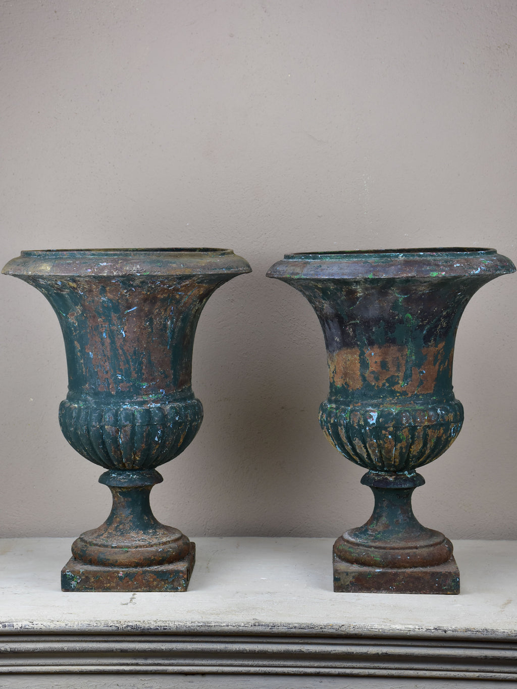 Pair of 19th Century French garden urns