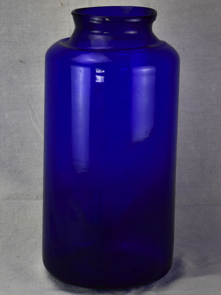 Very large blown glass jar - cobalt blue 21¼""