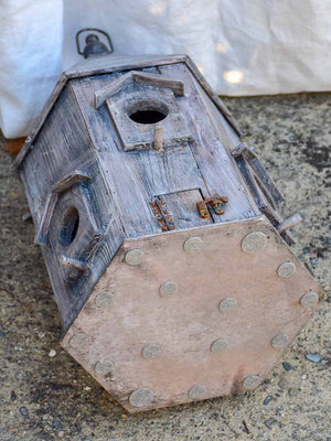 Artisan made wooden bird house