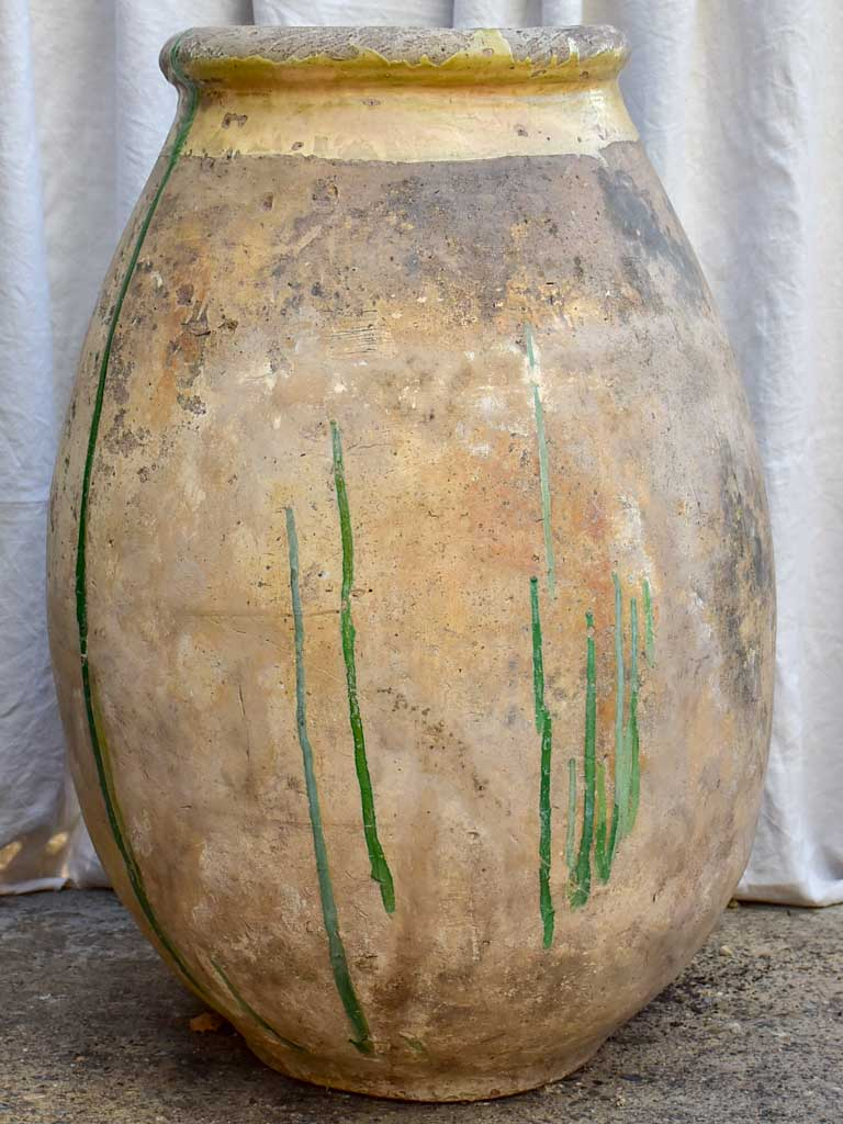 Very large 18th Century French Biot olive jar 38½""