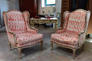Pair of Louis XV French armchairs