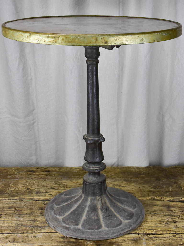 19th Century French marble and cast iron bistro table - round