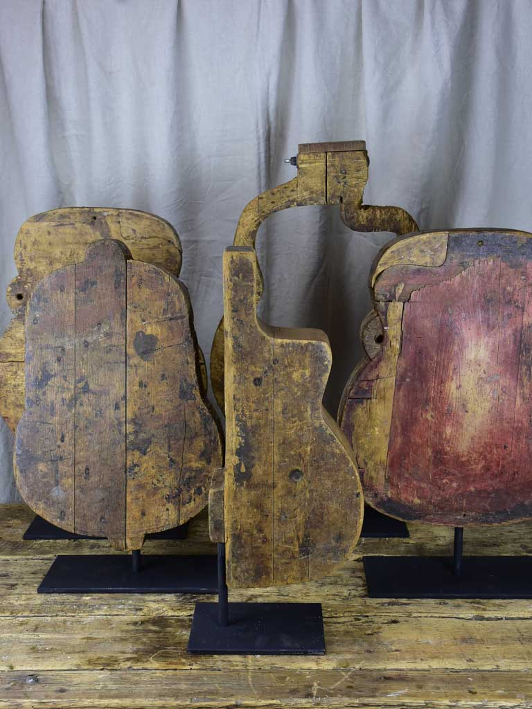 Rare set of ten antique French guitar molds