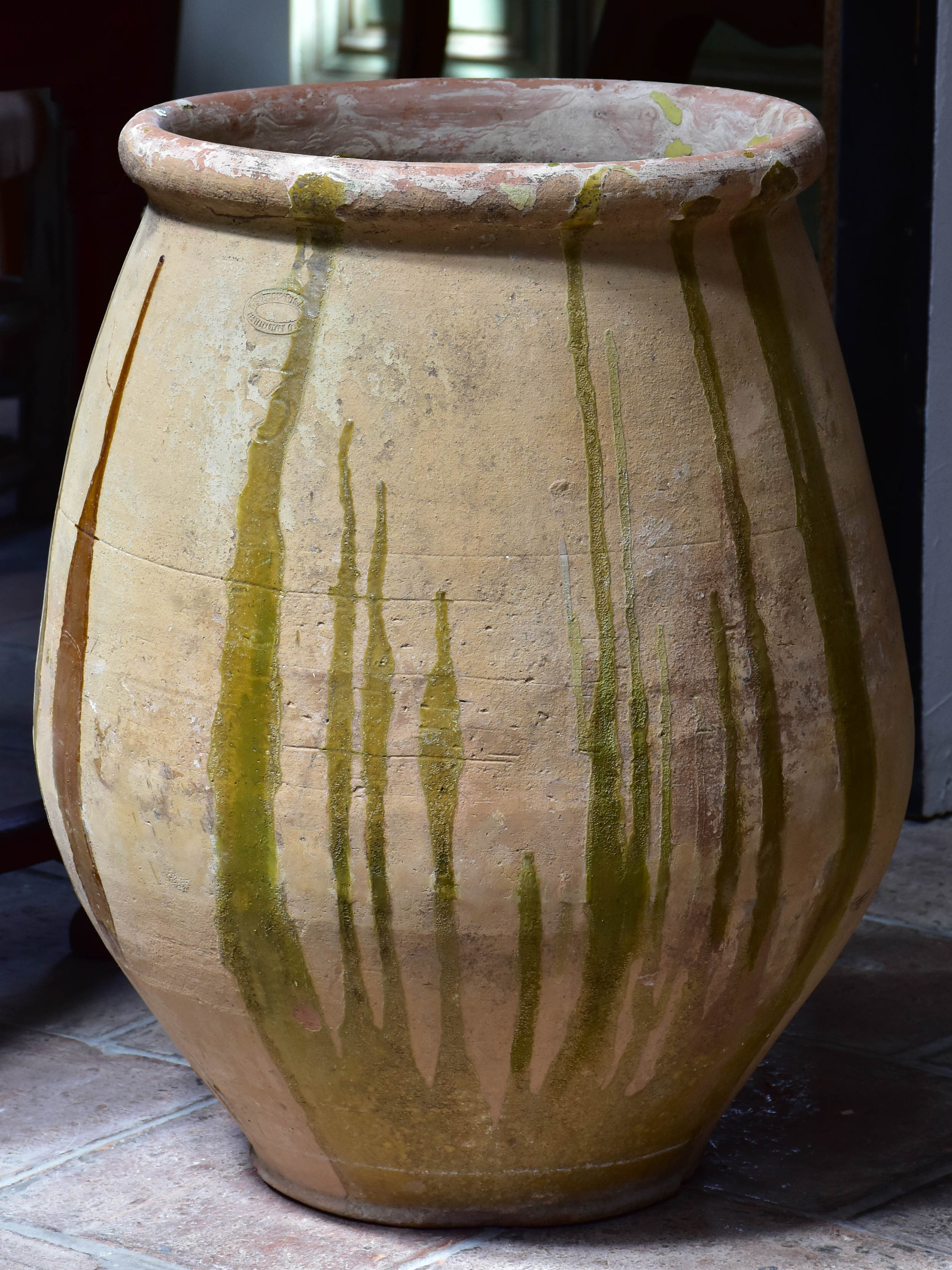 Late 19th century French grain pot from Castelnaudary