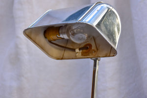 Adjustable 1930's reading lamp - travertine and chrome