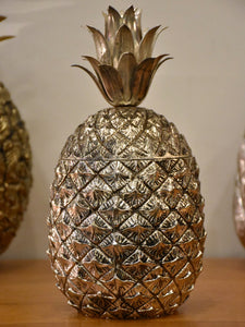 Silver Italian pineapple ice bucket by Mauro Manetti