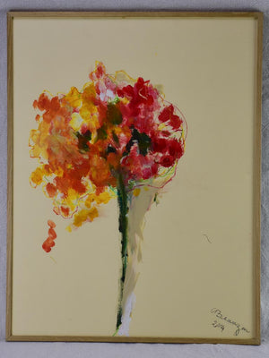"Bouquet 1 - Caroline Beauzon - oil on paper 20"" x 26"""