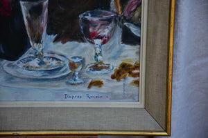 RESERVED JS - Mid century painting - interpretation of  Luncheon of the Boating Party, Renoir 21¼ x 27¼""""