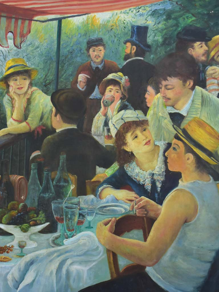 Mid century painting - study of Luncheon of the Boating Party, Renoir 59 x 39""""