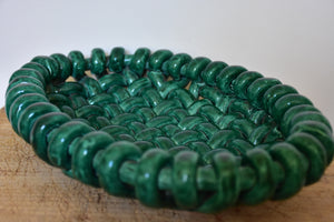 Jerome Massier woven ceramic bowl - green