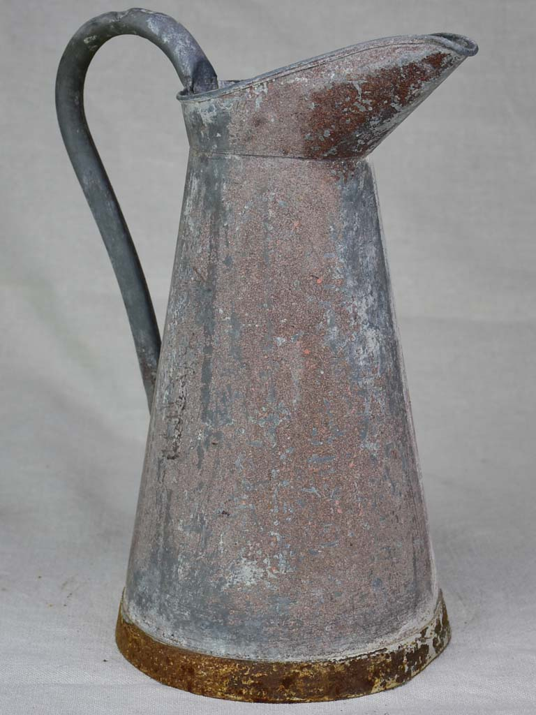 Early twentieth century French water pitcher - zinc 14¼""