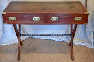 "Petite 1930's French desk - mahogany with leather 22"" x 42¼"""