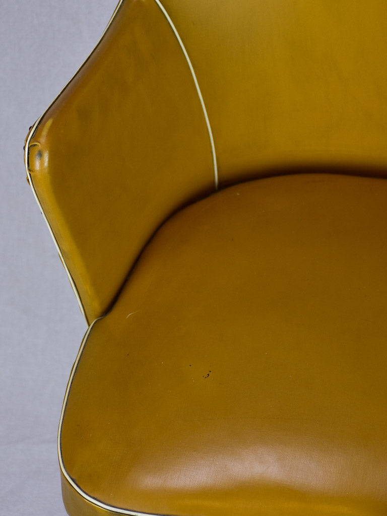 1940's Italian desk armchair with mustard upholstery