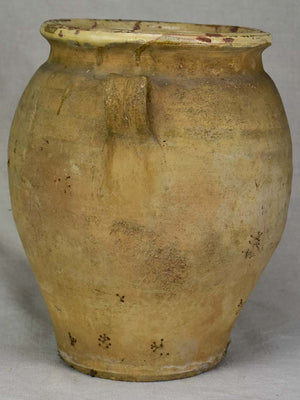 Large antique French confit pot with yellow glaze to the inside 12½""