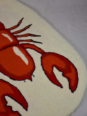 "Artisan made woolen rug by E. Paris - lobster 35"" x 57"""
