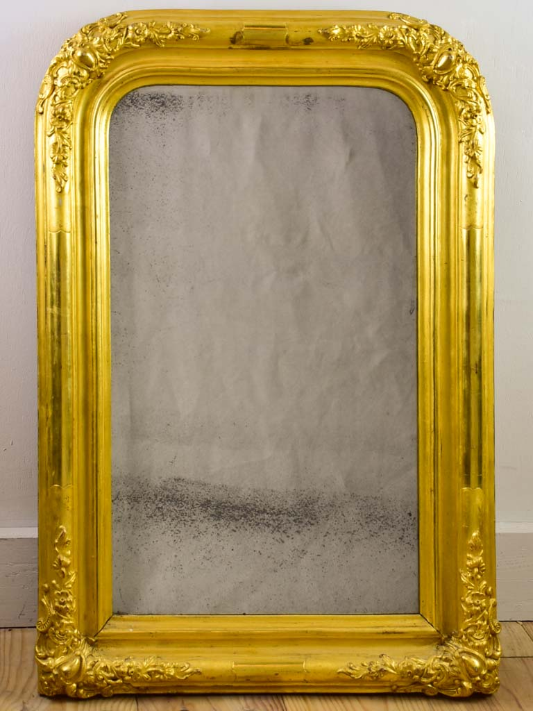"Pretty 19th Century French gilded mirror 17¼"" x 25½"""
