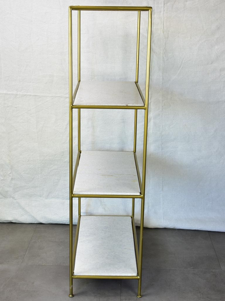"1970's four-tier display stand - marble and metal 45¼"" x  11½"" x 23¾"""