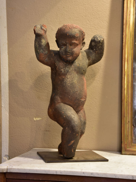 18th century French cherub sculpture