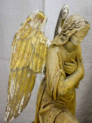 Early 19th Century carved sculpture of an angel