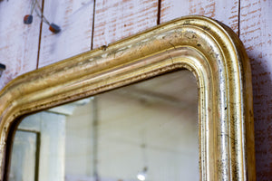 19th century Louis Philippe mirror with gold / silver frame