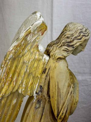 Pair of early 19th Century carved sculptures of angels