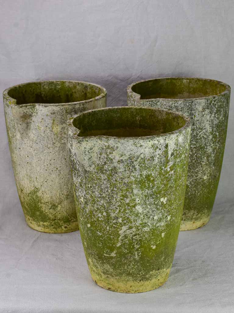 Set of three mid-century pots with spouts 15¾""