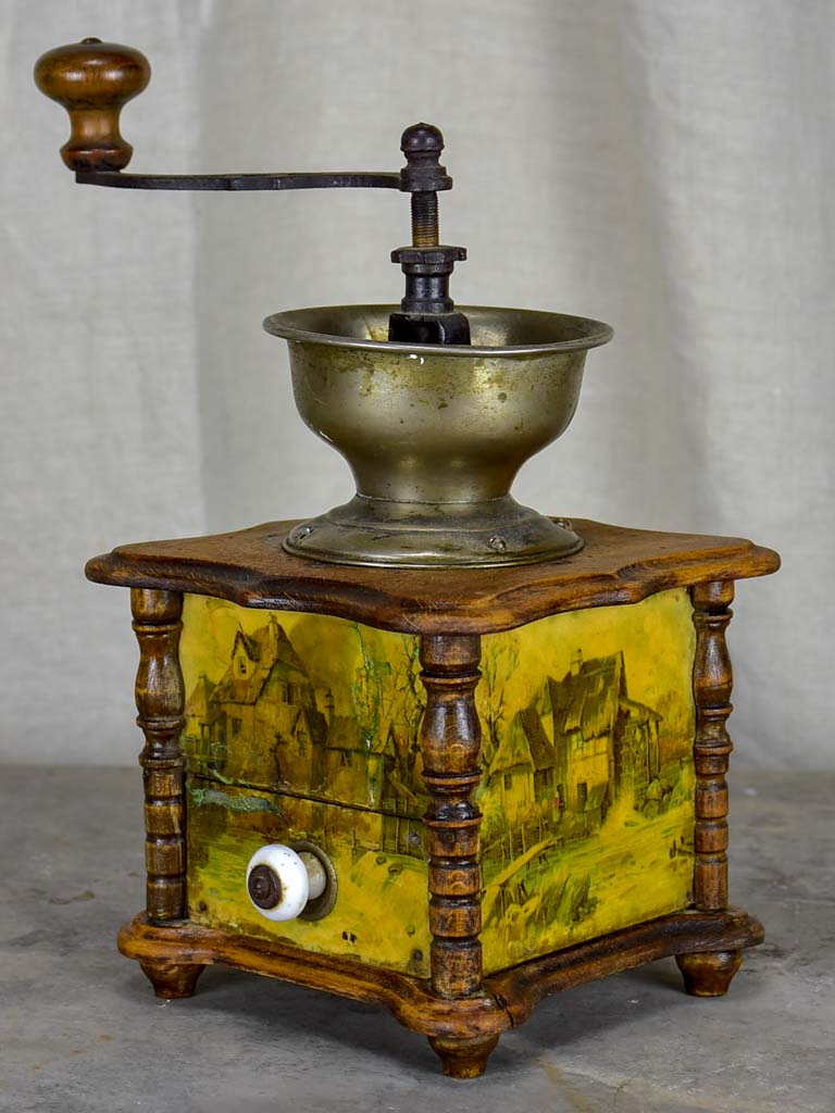 Antique French coffee grinder from Normandy