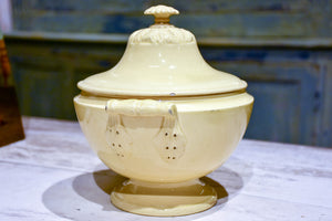 Antique yellow ware soup tureen from Apt