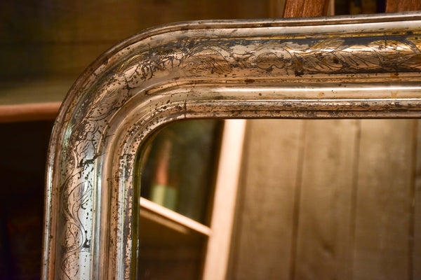 19th century silver leaf Louis Philippe mirror