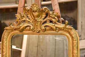 Late 19th century Napoleon III mirror with pediment