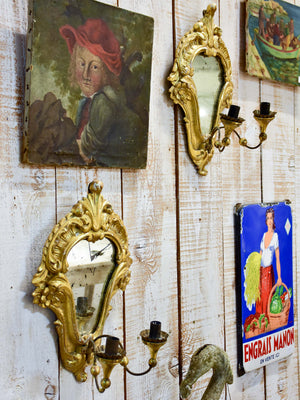 Pair of Louis XV style wall sconces for candles