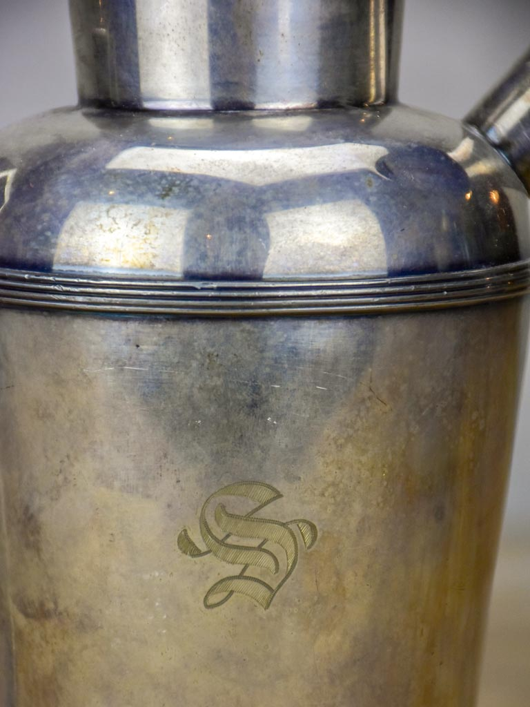 Early 20th Century silver plate English cocktail shaker