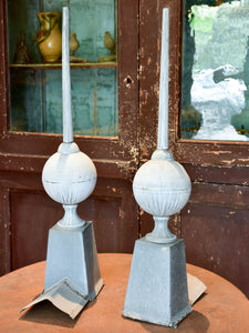 Two French zinc lightning rods