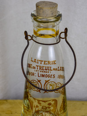 Antique French glass milk bottle - Dupoux