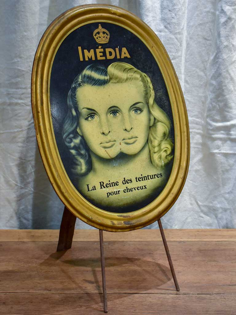 Mid century French sign - hair dye
