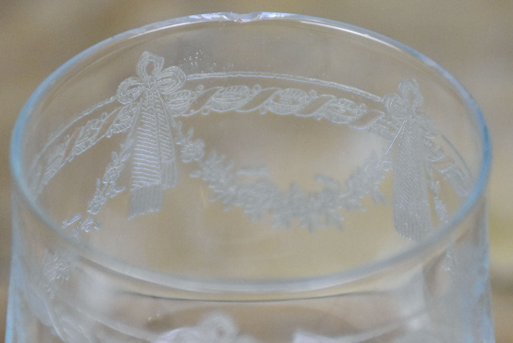 8 early 20th Century Louis XVI style wine glasses