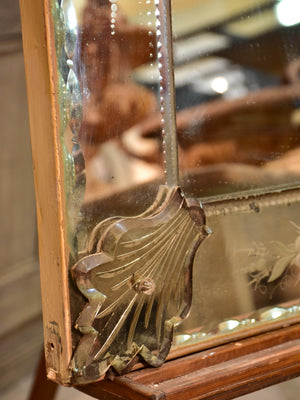 19th century etched and beveled Venetian Mirror