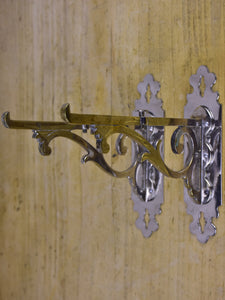 Pair of antique French wall brackets for glass shelves