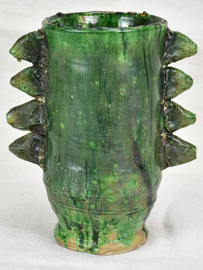 Vintage French vase with spikes 8¾""