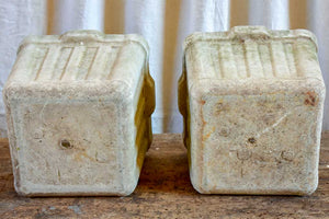 Pair of small square Willy Guhl garden planters