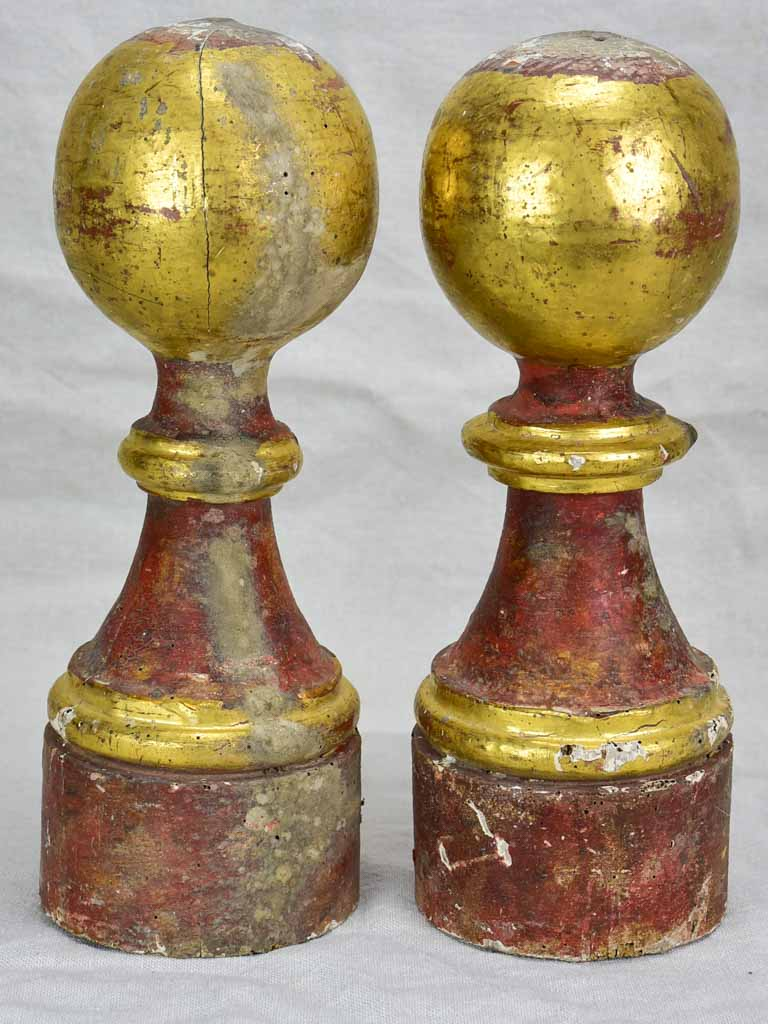 Pair of 18th century gilt boiserie elements 13¾""