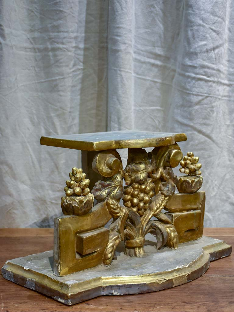 19th Century church pedestal - gilt-wood