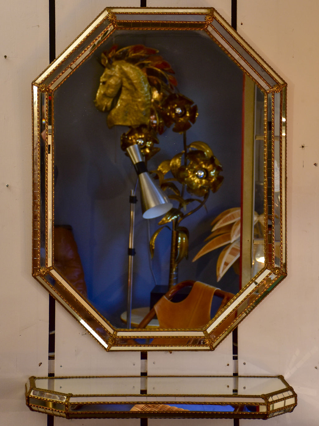 "Vintage French mirror with matching console 39"" x 30"""